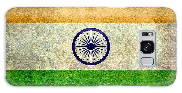 Flag Of India Vintage 18x24 Crop Version Galaxy Case