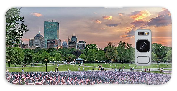 Flag Sunset On Boston Common Galaxy Case