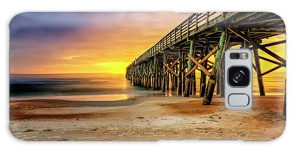 Flagler Beach Pier At Sunrise In Hdr Galaxy Case