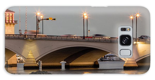 Flagler Galaxy Case - Flagler Bridge In Lights Iv by Debra and Dave Vanderlaan