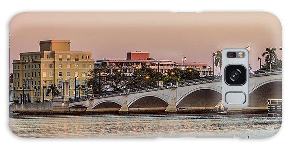 Flagler Galaxy Case - Flagler Bridge In The Evening I by Debra and Dave Vanderlaan