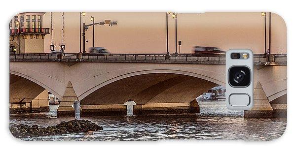 Flagler Galaxy Case - Flagler Bridge In The Evening IIi by Debra and Dave Vanderlaan