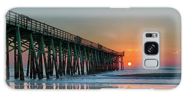 Flagler Pier Sunrise Galaxy Case