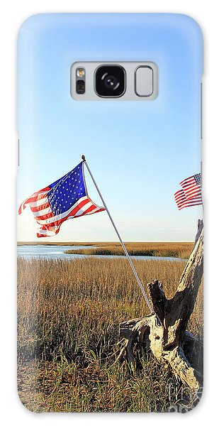 Flags Near Tybee Galaxy Case