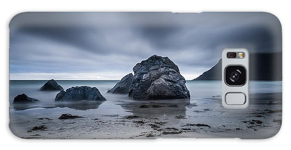 Galaxy Case featuring the photograph Flakstad Beach by James Billings