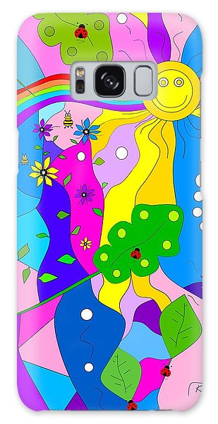 Flamboyant Lion Galaxy Case by Kathleen Sartoris