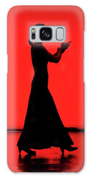 Flamenco Red An Black Spanish Passion For Dance And Rithm Galaxy Case