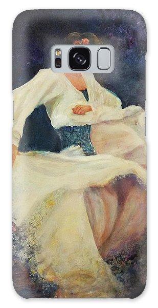 Flamenco In White Galaxy Case