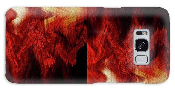 Flames Galaxy Case by Cherie Duran