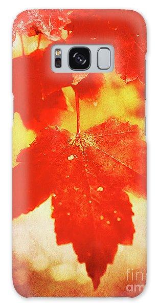 Flaming Autumn Galaxy Case