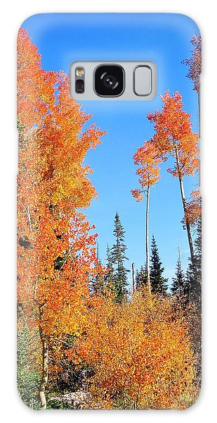 Flaming Autumn Trees In Dixie National Forest Utah Galaxy Case by Deborah Moen