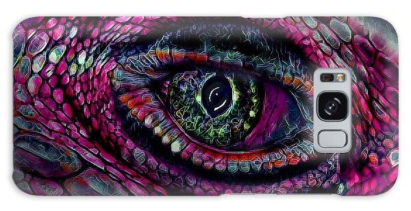 Flaming Dragons Eye Galaxy Case