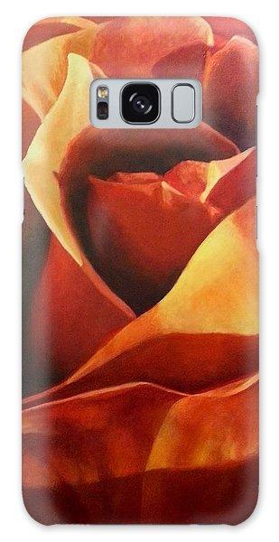 Flaming Rose Galaxy Case