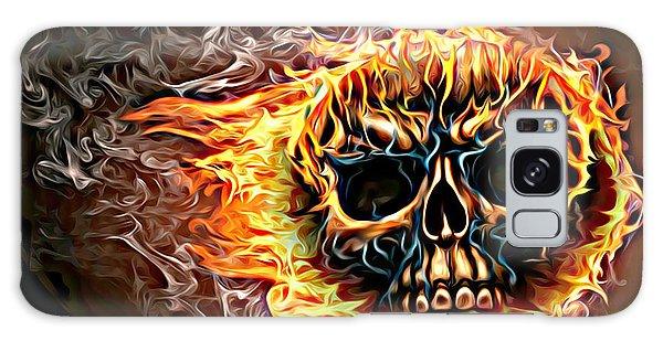 flaming skull Punk Gothic Biker Art Galaxy Case