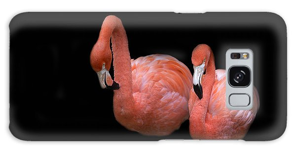 Flamingo 4 Galaxy Case by Rebecca Cozart