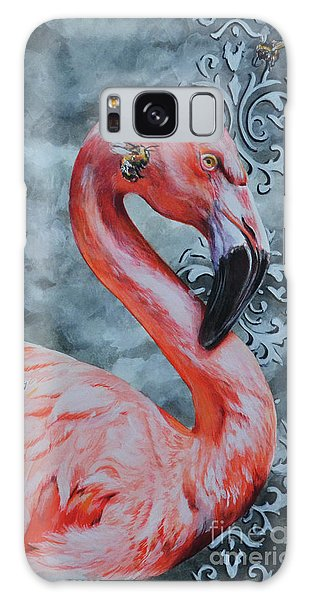 Flamingo And Bees Galaxy Case