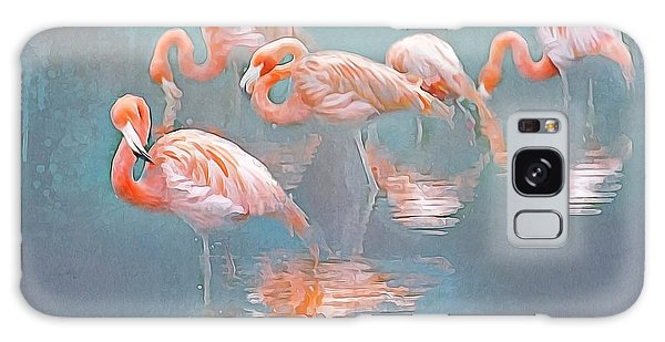 Flamingo Blues Galaxy Case