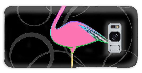 Flamingo Bubbles No 1 Galaxy Case