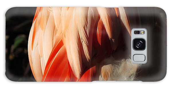 Flamingo Feathers Galaxy Case