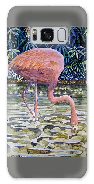 Flamingo Fishing Galaxy Case