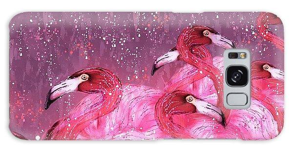 Flamingo Frenzy Galaxy Case