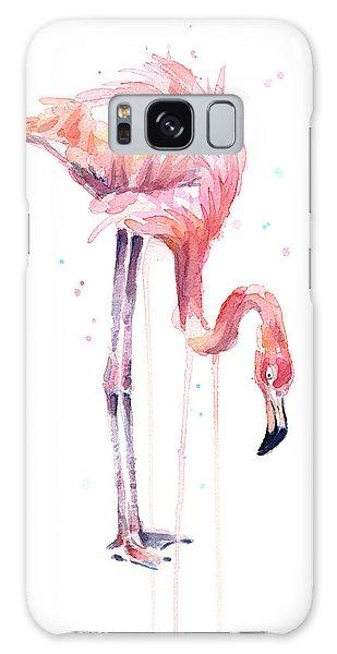 Flamingo Painting Watercolor Galaxy Case
