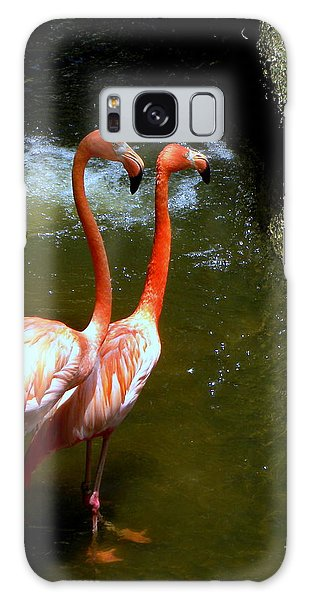 Flamingo Pair Galaxy Case
