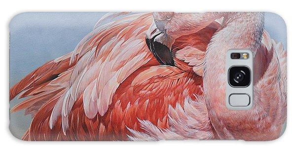 Flamingo Preening Galaxy Case