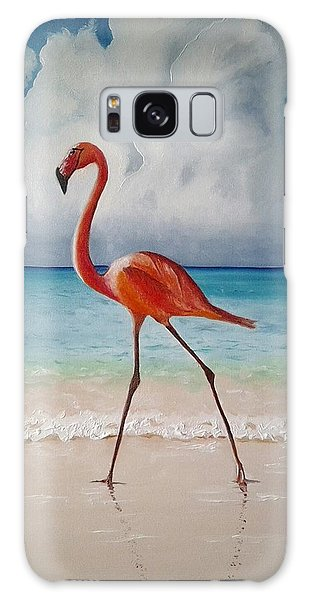 Flamingo Walk Galaxy Case