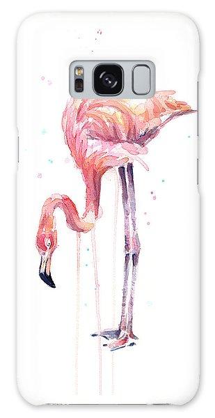 Flamingo Watercolor - Facing Left Galaxy Case