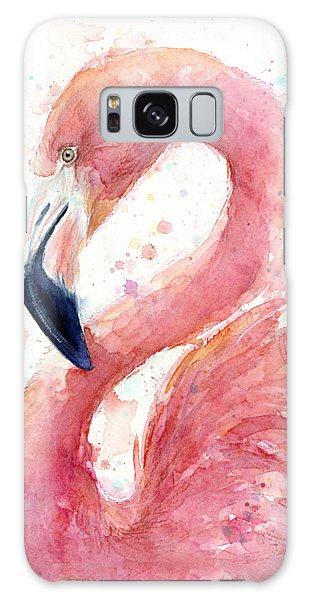 Flamingo Watercolor Painting Galaxy Case