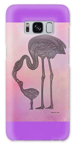 Galaxy Case featuring the digital art Flamingo6 by Megan Dirsa-DuBois