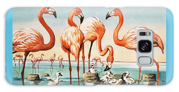 Flamingoes Galaxy Case