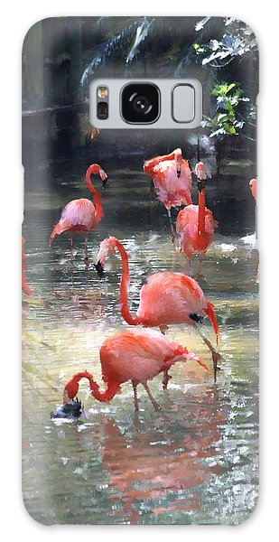 Flamingos Galaxy Case by Diane Merkle
