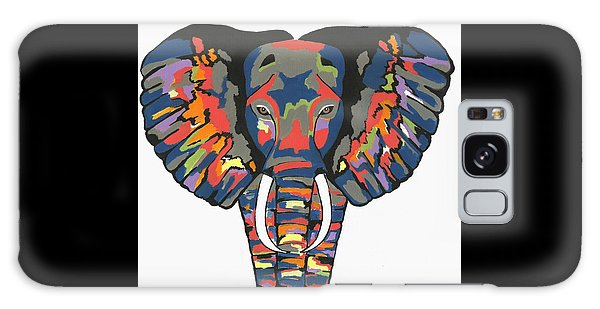 Flashy Elephant - Contemporary Animal Painting Galaxy Case