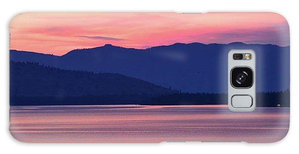 Flathead Lake At Sunrise Galaxy Case