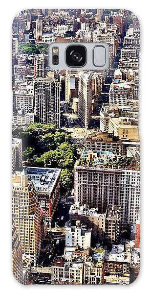 Landscapes Galaxy Case - Flatiron Building From Above - New York City by Vivienne Gucwa
