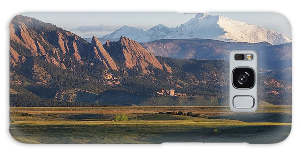 Flatirons And Longs Peak Galaxy Case
