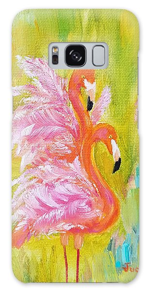 Galaxy Case featuring the painting Flaunting Feathers by Judith Rhue