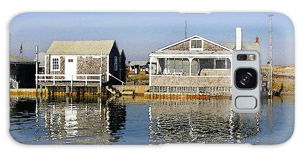 Fletchers Camp And The Little House Sandy Neck Galaxy Case