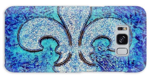 Fleur De Lis Blue Ice Galaxy Case