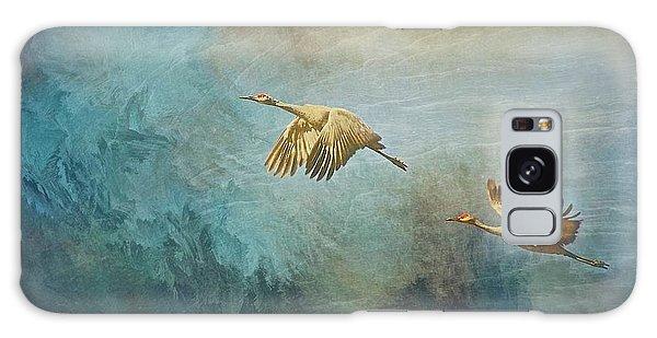 Flight Of Fantasy, Sandhill Cranes Galaxy Case