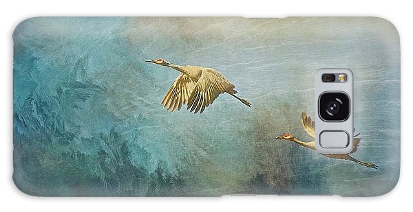 Flight Of Fantasy, Sandhill Cranes Galaxy Case