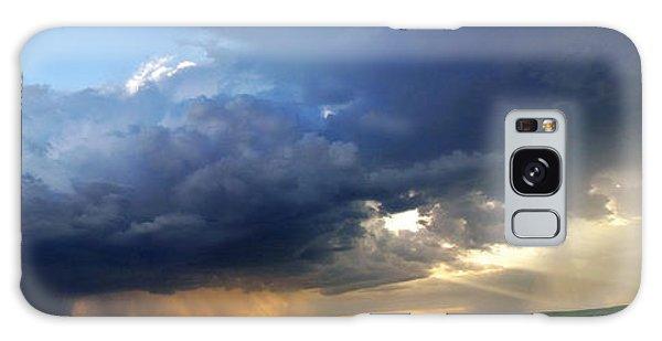 Flint Hills Storm Panorama 2 Galaxy Case