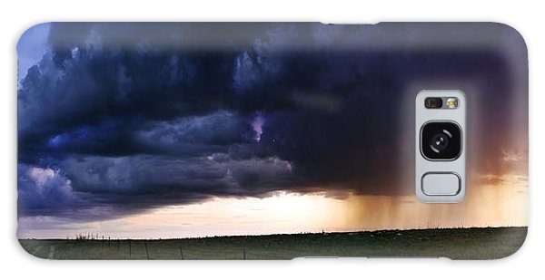 Flint Hills Storm Panorama  Galaxy Case