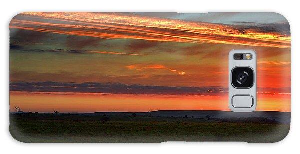 Flint Hills Sunrise Galaxy Case by Thomas Bomstad