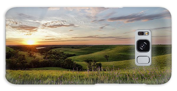 Flint Hills Sunset Galaxy Case