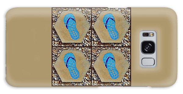 Flip Flop Square Collage Galaxy Case
