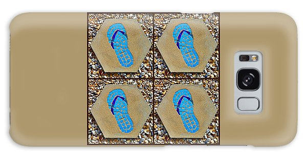 Flip Flop Square Collage Galaxy Case