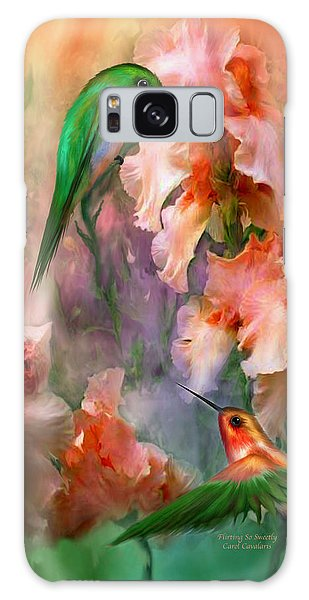 Galaxy Case featuring the mixed media Flirting So Sweetly by Carol Cavalaris
